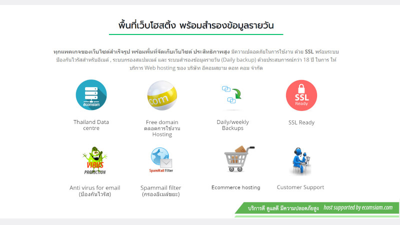 แนะนำโบรชัวร์เว็บขายสินค้าออนไลน์ ขายของออนไลน์ ecommerce
